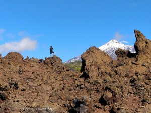 Pete looking at Teide volcano, Tenerife