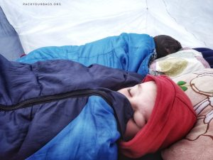 keep warm in a tent